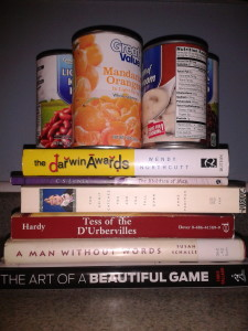 Cans on books