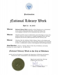 City of Attleboro National Library Week Proclamation