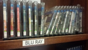 Blu ray discs are available on the first floor of the library.