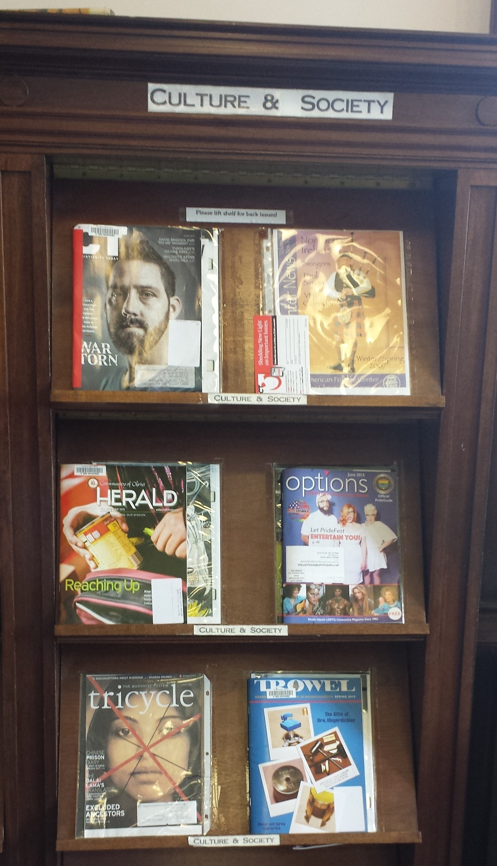 Enjoy a peaceful moment in the magazine room attleboro public magazine shelf jeuxipadfo Images