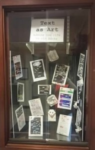 Blackout Poetry display