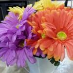 blooms at circulation desk